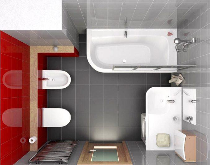 Дизайн отделки ванной комнаты плиткой