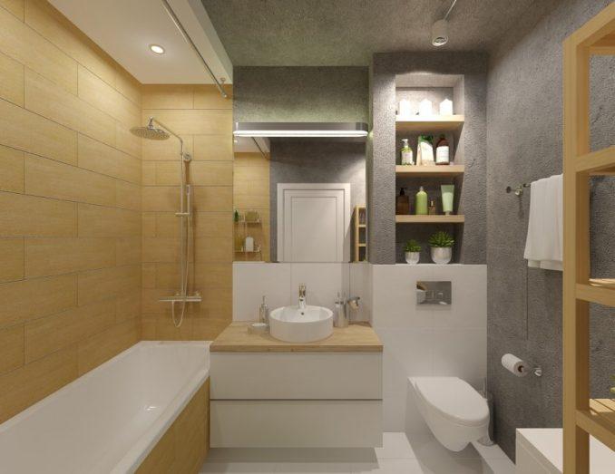 Ремонт ванной комнаты 5 кв. м.