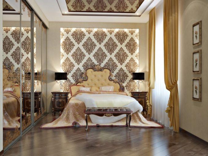 Богатая спальная комната