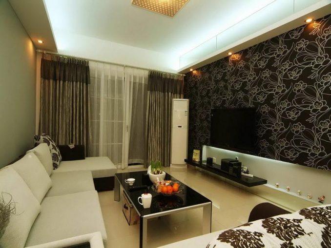 Черно-белоя гостиная