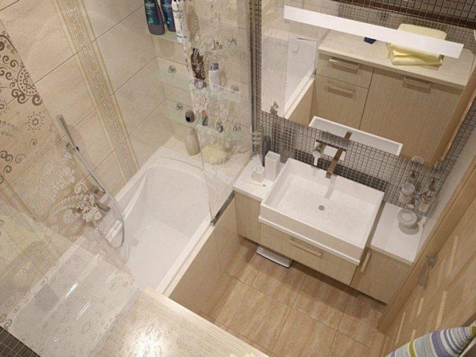 Дизайн ванной 4 кв. м.