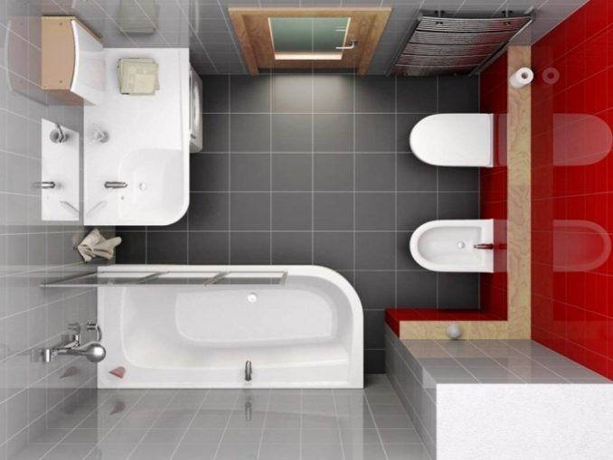 Дизайн ванной комнаты с маленькой площадью