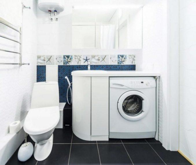 Дизайн ванной в хрущевке со стиралкой