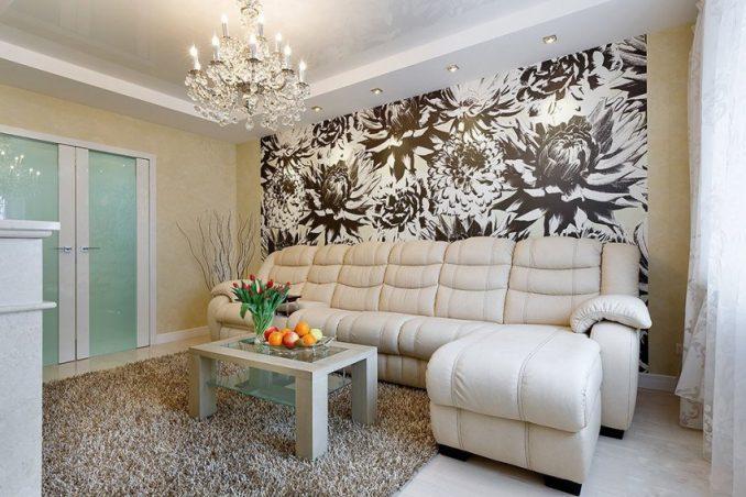 Гостиная с цветами