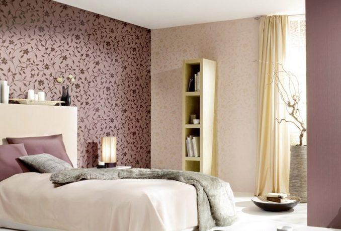 Классический стиль спальни в цветах