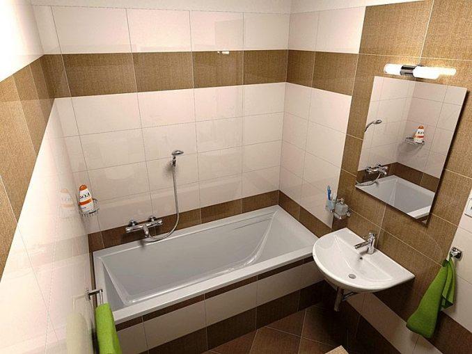 Площадь ванной 4 кв. м.