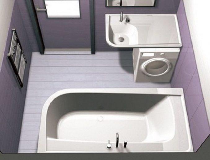 Схема расположения предметов в ванной