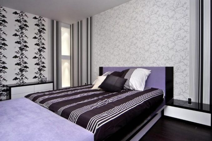 Спальня в полосках