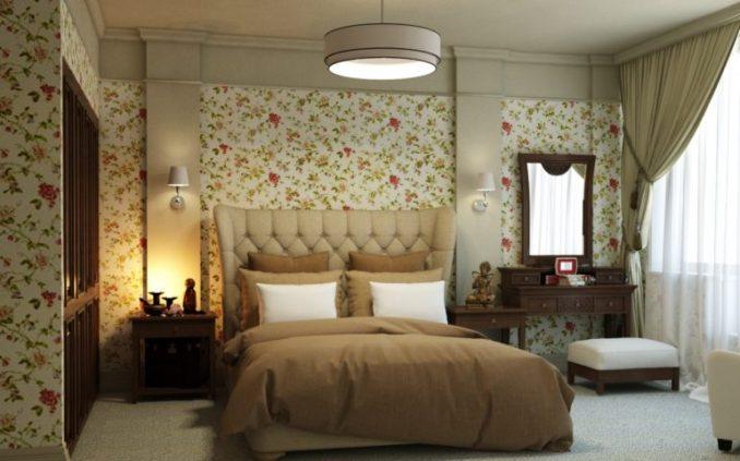 Спальня в цветах