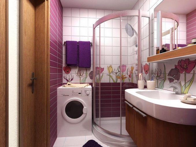 Ванная комната с цветами