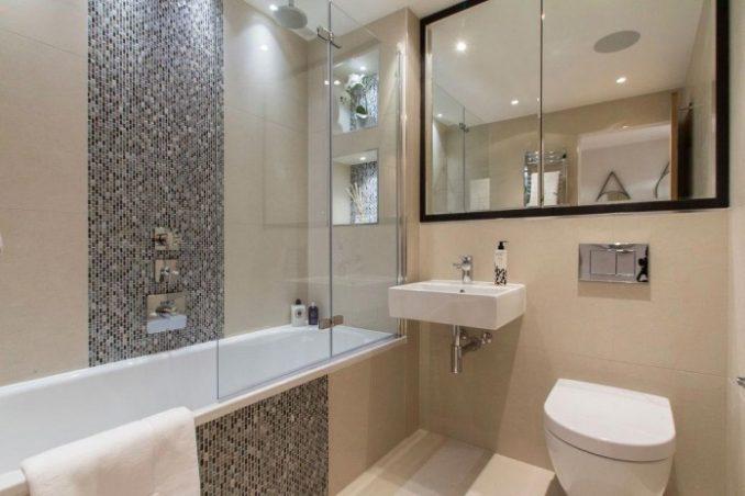 Ванная комната в постельном тоне