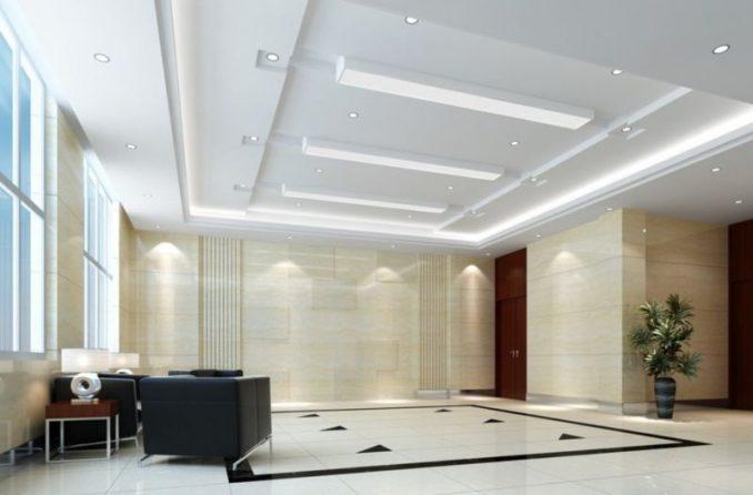 Белый потолок из гипсокартона фигурный фото
