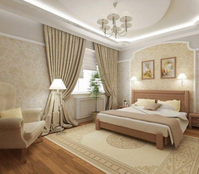 Декор спальни в классическом стиле