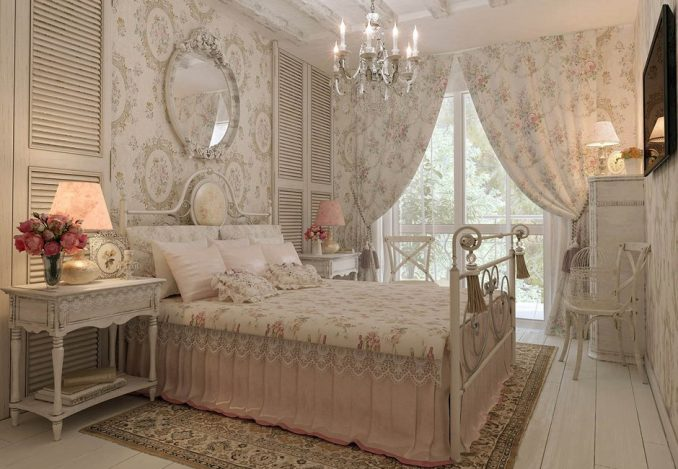 Дизайн большой спальни в стиле прованс