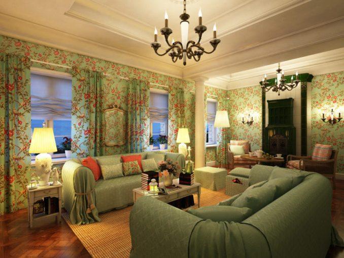 Дизайн гостиной комнаты в стиле прованс