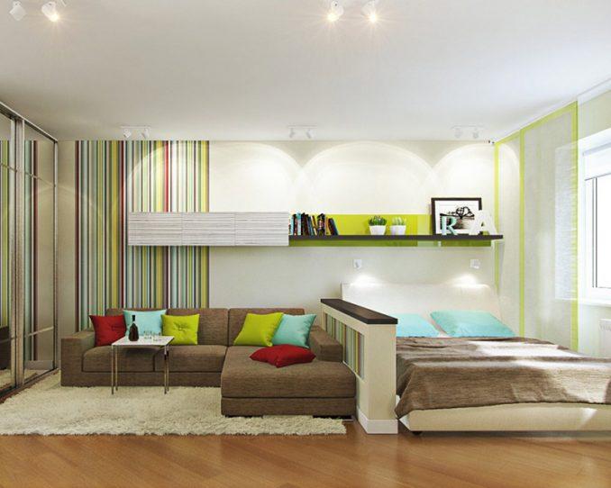 Дизайн гостиной-спальни — как совместить