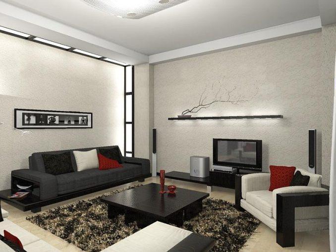 Дизайн гостиной в стиле минимализм фото
