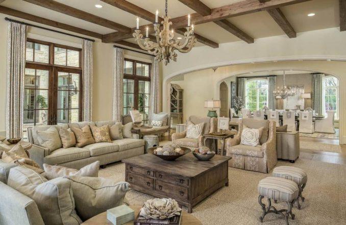 Дизайн интерьера гостиной в стиле прованс