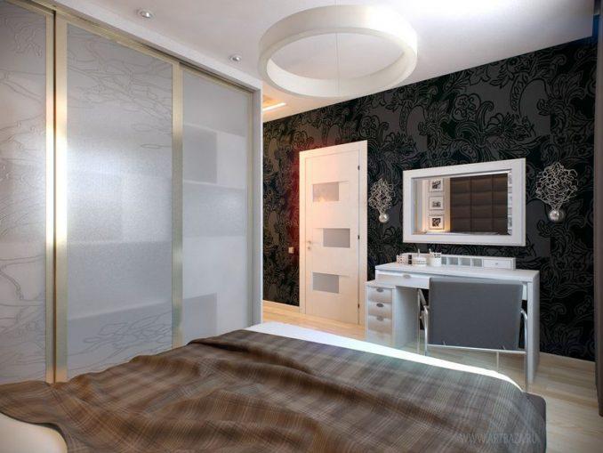 Дизайн маленькой спальни 9 кв. м. фото