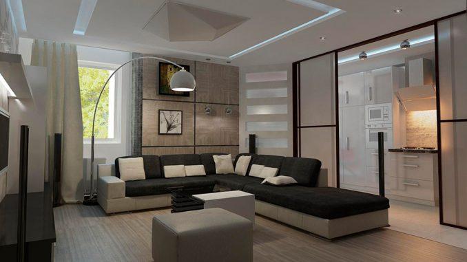 Дизайн минимализм гостиной