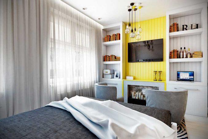Дизайн небольшой спальни 9 кв. м.