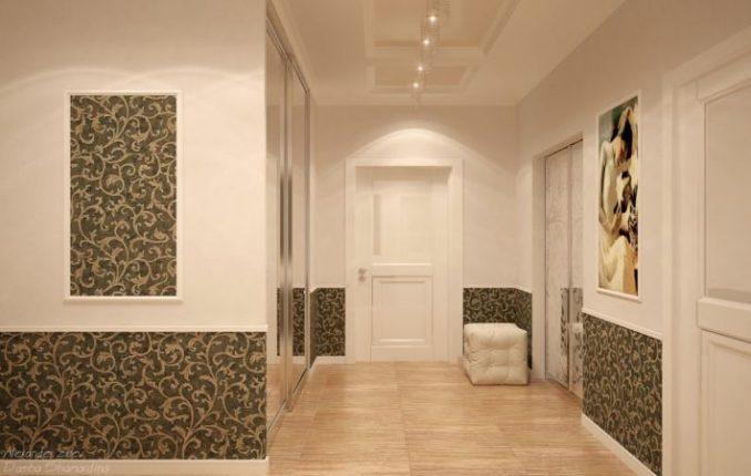 Дизайн обоев 2 цветов в гостиную фото
