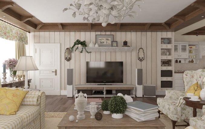 Дизайн прованса в гостиной