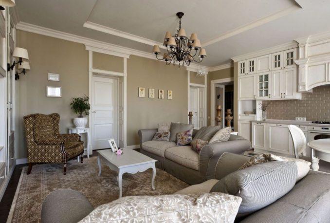 Дизайн прованса в интерьере в гостиной