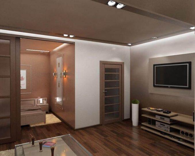 Дизайн спальни-гостино