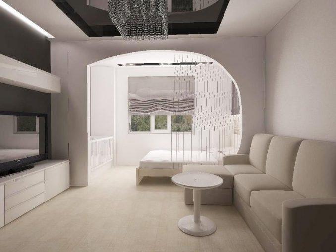 Дизайн спальни-гостиной фото
