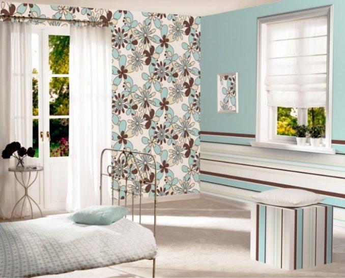 Дизайн яркой спальной комнаты