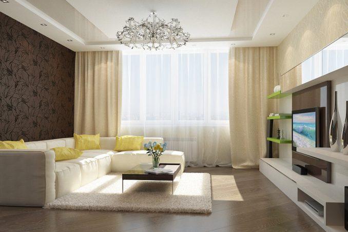 Дизайн зала 17 кв. м. в квартире фото