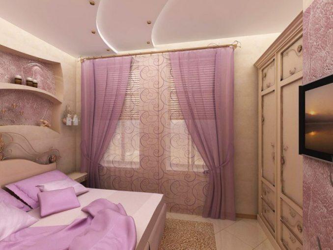 Фото дизайна малогабаритной спальни 2019
