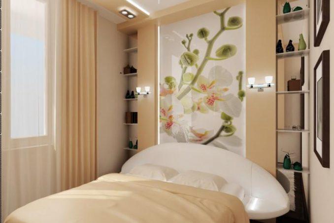 Фото дизайна малогабаритной спальни