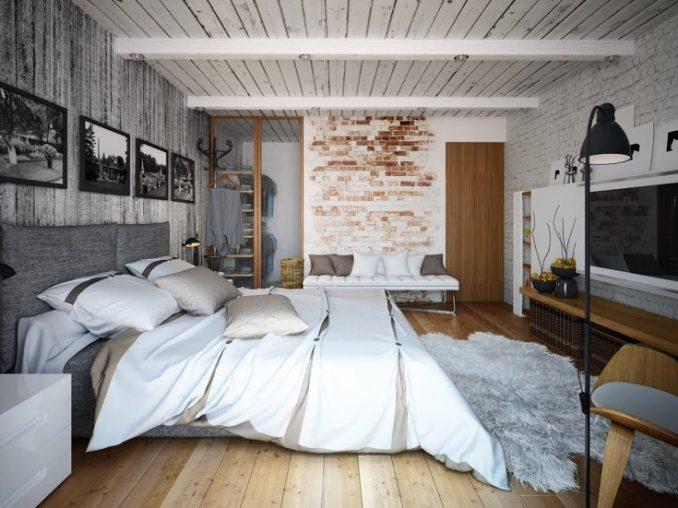 Фотографии в стиле лофт в спальне