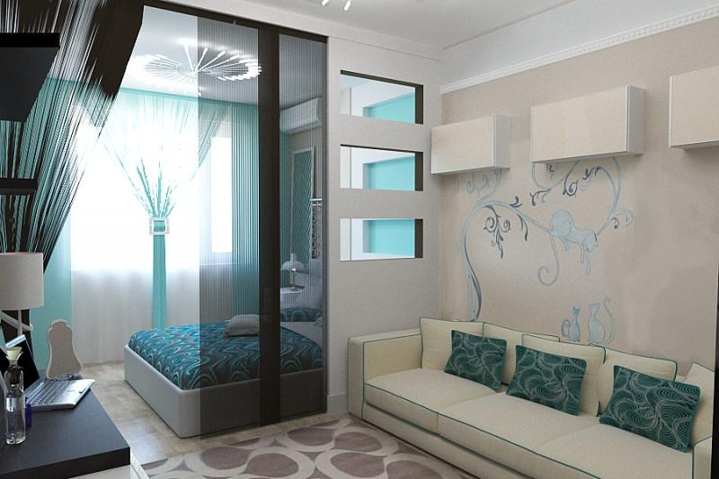 имеют фиксаторы-лепестки, дизайн гостиной совмещенной со спальней фото примеру