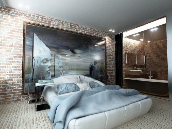 Характерные черты стилялофтв спальне фото