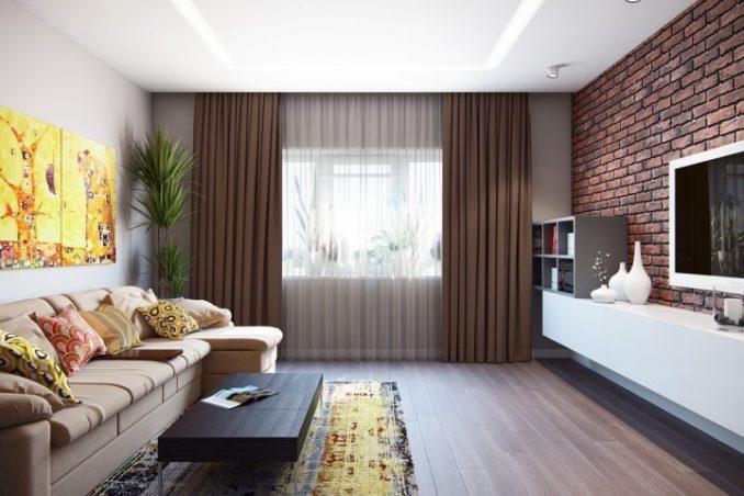 Идеи дизайна гостиной 17 кв.м.