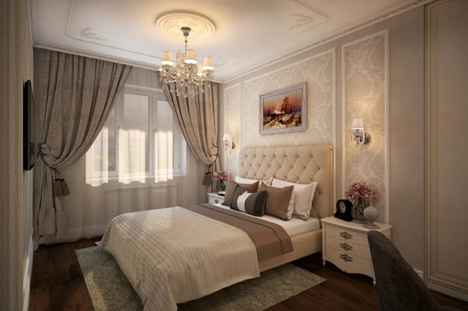 Интерьер классического дизайна для спальни