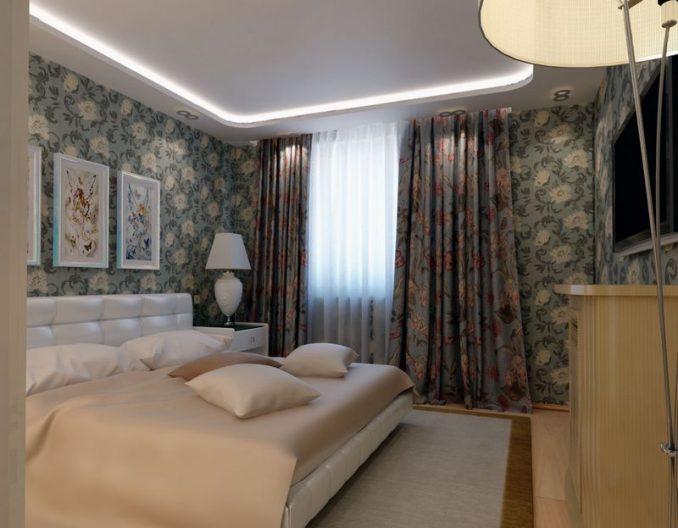 Интерьер малогабаритной спальни фото