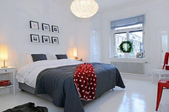 Интерьер спальня в скандинавском стиле