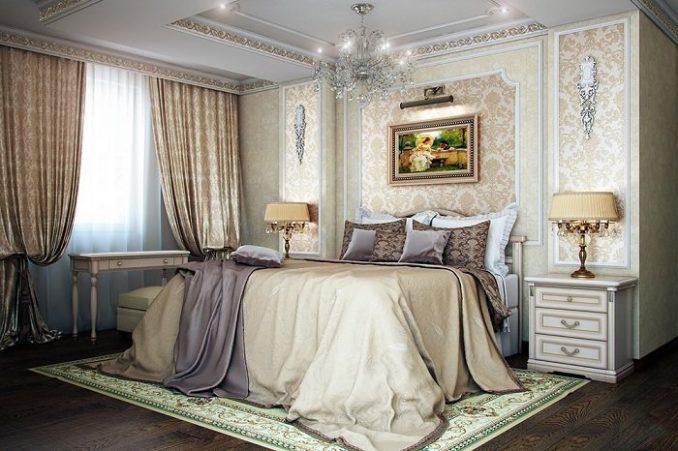 Изящный декор спальни в классическом стиле