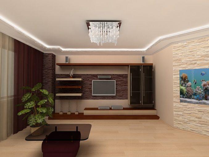 Как оформить стену с телевизором