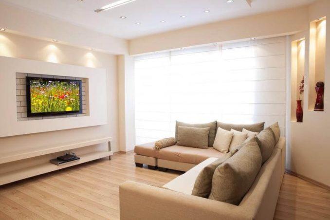 Как оформить стену с телевизором необычно