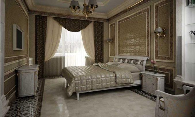 Классика в спальной комнате