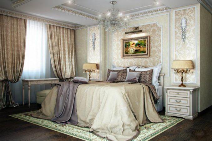 Классический стиль дизайн интерьера для спальни фото