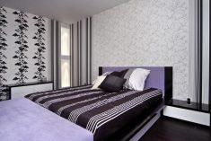 Комбинированые обои для спальни