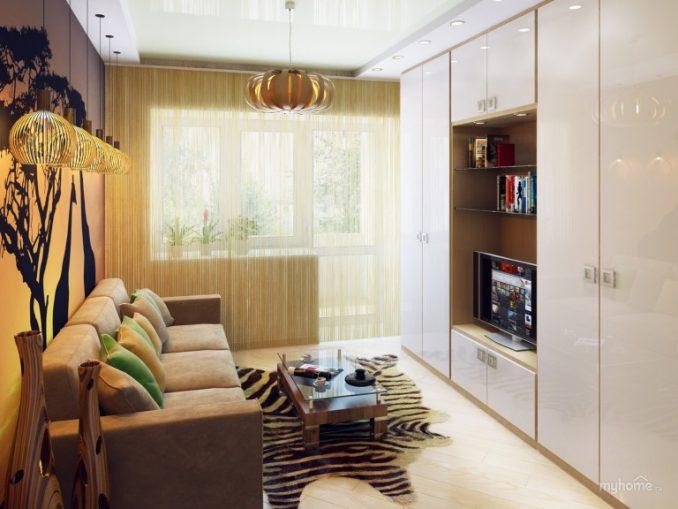 Маленькая гостиная комната в китайском стиле