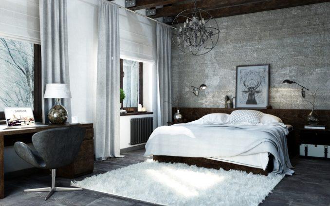 Мебель для спальне в стиля лофт