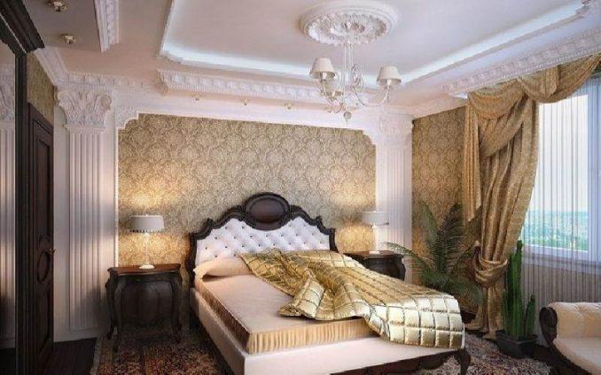 Мебель в интерьере спальни в классическом стиле